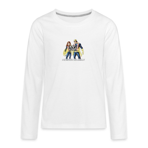 Superhelden & Logo - Teenager Premium Langarmshirt