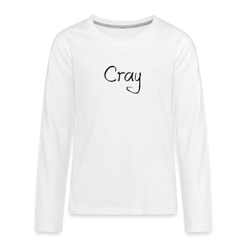 Cray Black Schrifft - Teenager Premium Langarmshirt