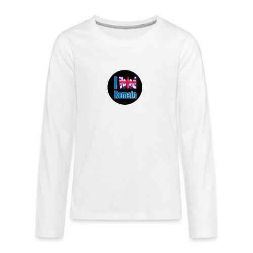 I Voted Remain badge EU Brexit referendum - Teenagers' Premium Longsleeve Shirt