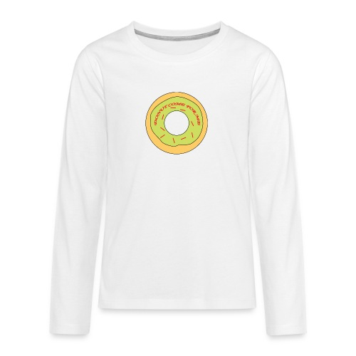 Donut Come For Me Red - Teenagers' Premium Longsleeve Shirt