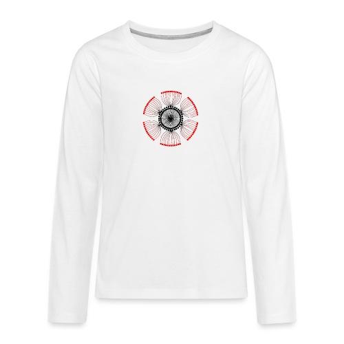 Red Poppy Seeds Mandala - Teenagers' Premium Longsleeve Shirt