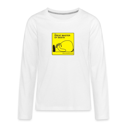 Great Master of Siesta - Teenagers' Premium Longsleeve Shirt