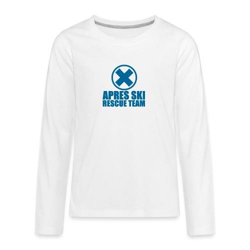 apres-ski rescue team - Teenager Premium shirt met lange mouwen