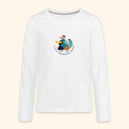 Tartaruga e uccellino - Maglietta Premium a manica lunga per teenager