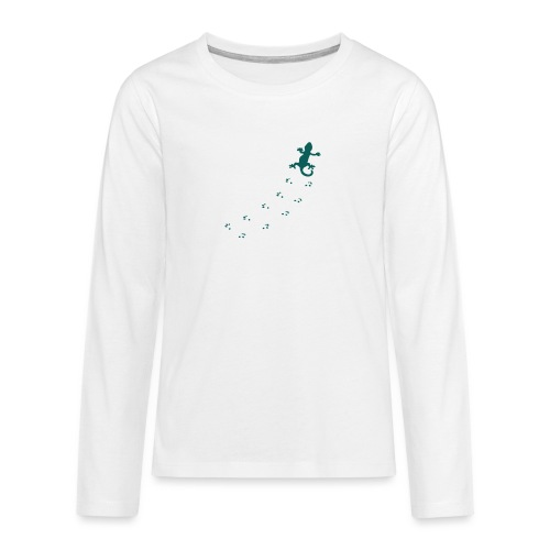 Messy Lizard Paws - Teenagers' Premium Longsleeve Shirt