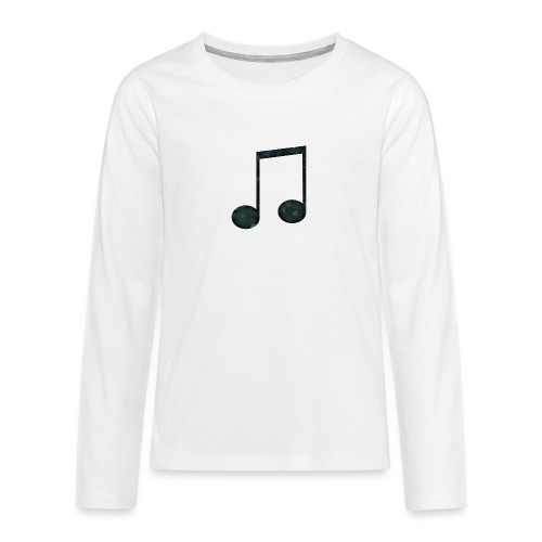 Low Poly Geometric Music Note - Teenagers' Premium Longsleeve Shirt
