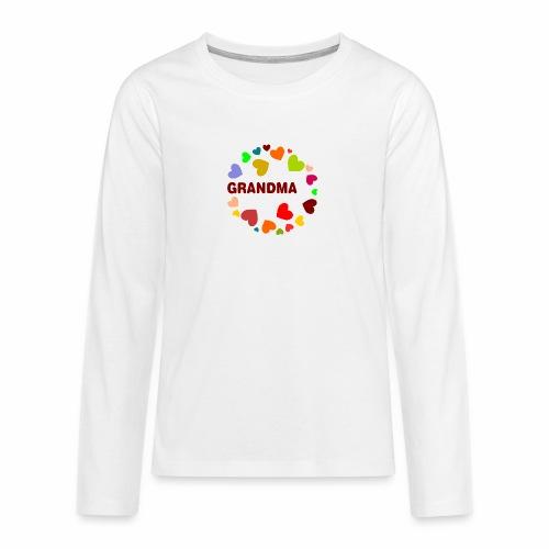 Grandma - Teenager Premium Langarmshirt