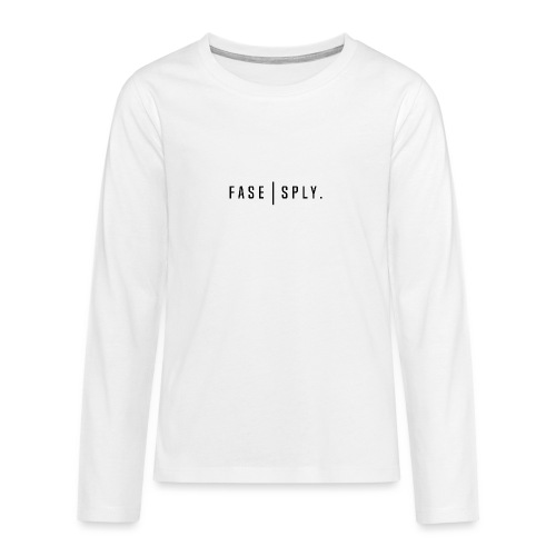 Clean Long Sleeve by Fase Supply Co. - Teenagers' Premium Longsleeve Shirt