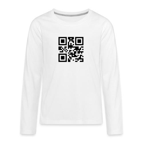 Sono Single QR Code - Maglietta Premium a manica lunga per teenager