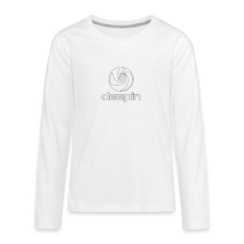 deepinlogotrasparente - Maglietta Premium a manica lunga per teenager
