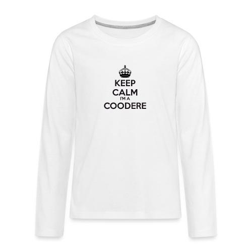 Coodere keep calm - Teenagers' Premium Longsleeve Shirt
