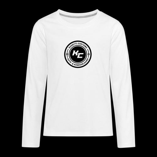 kc_tunnus_2vari - Teinien premium pitkähihainen t-paita