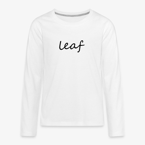 leaf her - Koszulka Premium z długim rękawem dla nastolatków