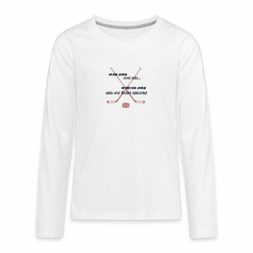 bon joueur - T-shirt manches longues Premium Ado