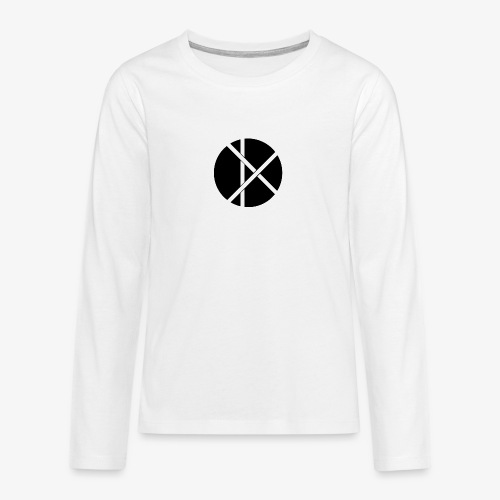 Don Logo - musta - Teinien premium pitkähihainen t-paita