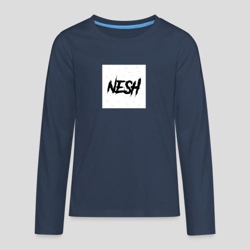 Nesh Logo - Teenager Premium Langarmshirt