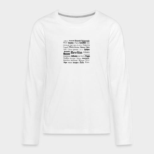 European capitals - Teenagers' Premium Longsleeve Shirt
