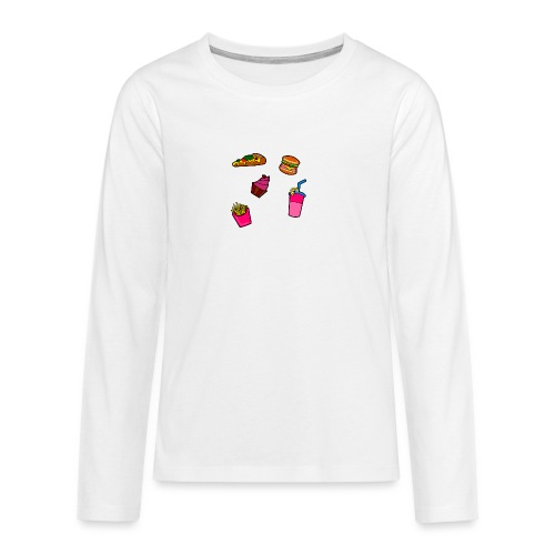 Fast Food Design - Teenager Premium Langarmshirt
