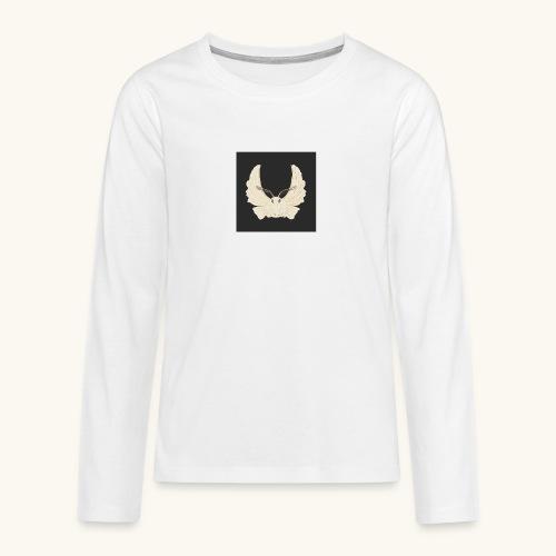 Papillon de nuit fond noir - T-shirt manches longues Premium Ado