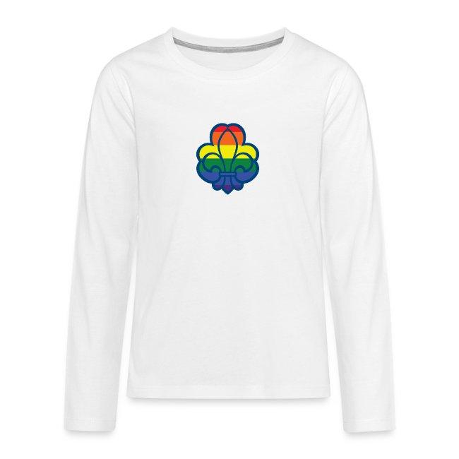 Regnbuespejder hvide t-shirts