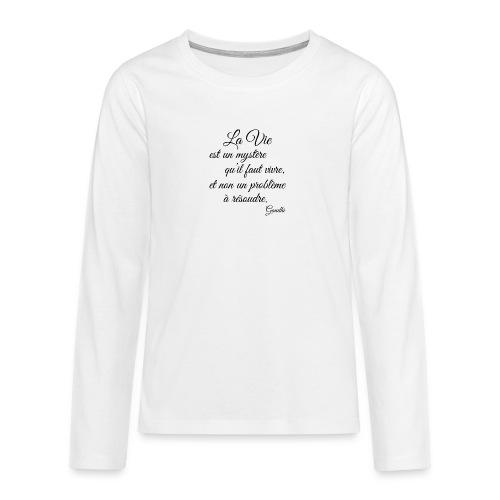 La vie et cest mysteres - Teenager Premium Langarmshirt