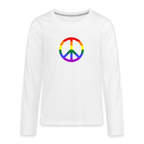 Peace - Teenager Premium Langarmshirt