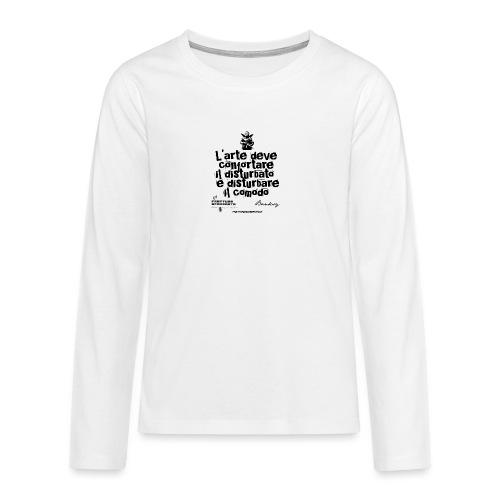 Aforisma Banksy - Maglietta Premium a manica lunga per teenager