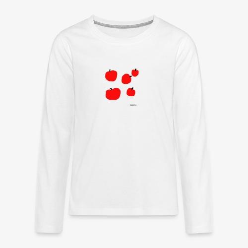 Omenat - Teinien premium pitkähihainen t-paita