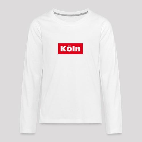 Köln - Teenager Premium Langarmshirt