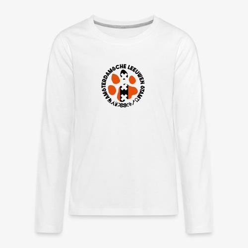 ALS witte rand licht - Teenager Premium shirt met lange mouwen