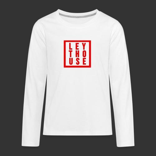 LEYTHOUSE Square red - Teenagers' Premium Longsleeve Shirt