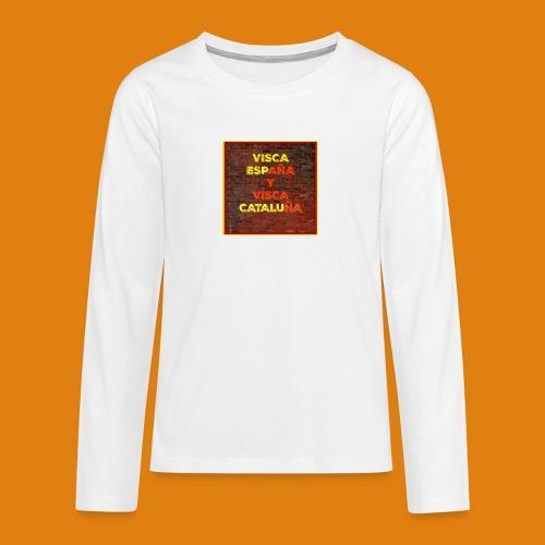SPAIN AND CATALONIA - Teenagers' Premium Longsleeve Shirt
