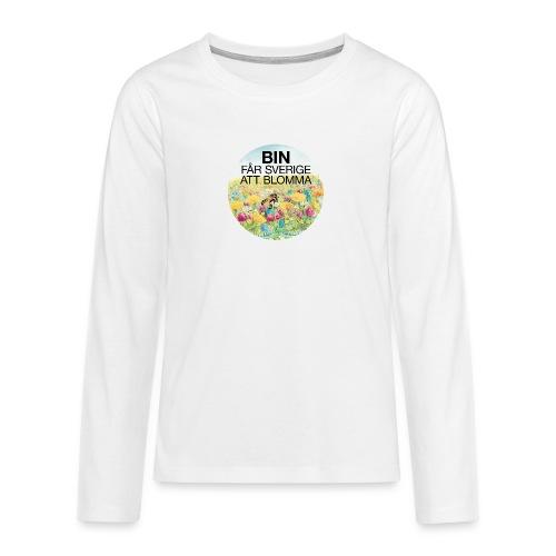 Bin får Sverige att blomma - Långärmad premium T-shirt tonåring