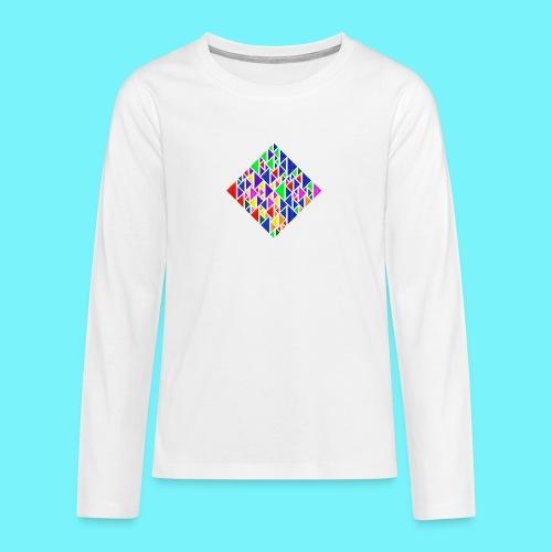 A square school of triangular coloured fish - Teenagers' Premium Longsleeve Shirt