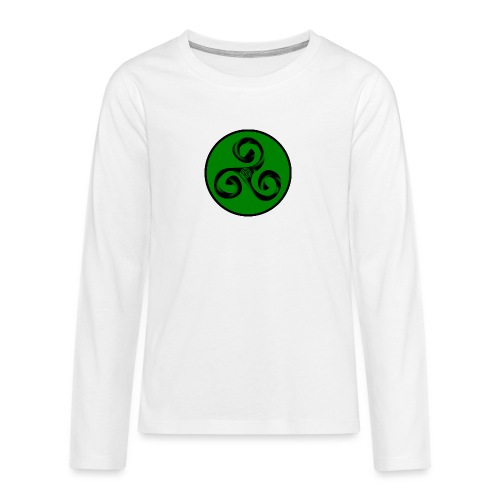 Triskel and Spiral - Camiseta de manga larga premium adolescente