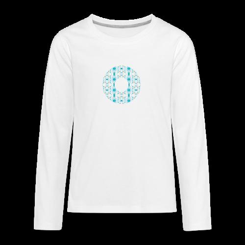 Hippie flowers donut - Teenagers' Premium Longsleeve Shirt
