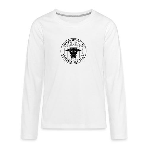 UFC Logo nur schwarz - Teenager Premium Langarmshirt