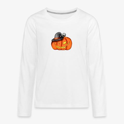 citrouille chapeau - T-shirt manches longues Premium Ado
