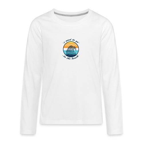 Beach Vibes - Teenager Premium Langarmshirt