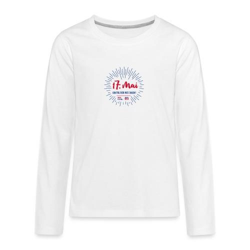 17. mai T-skjorte - Det norske plagg - Premium langermet T-skjorte for tenåringer