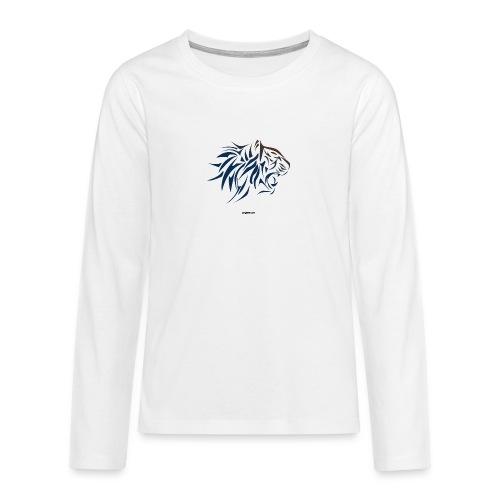 tiger vector - Camiseta de manga larga premium adolescente