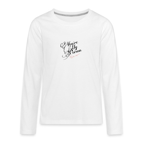 Poison black - Långärmad premium T-shirt tonåring