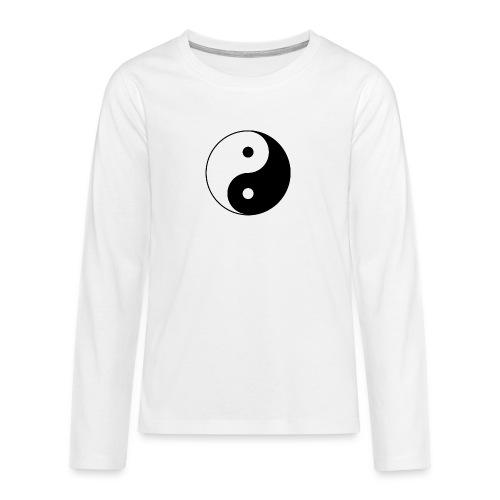 800px Yin yang svg 1 - Teenager Premium Langarmshirt
