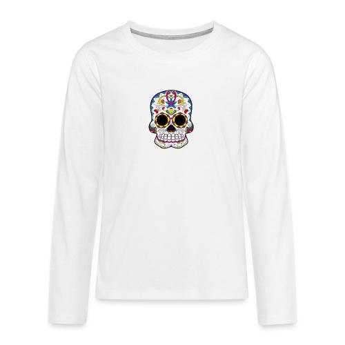 skull7 - Maglietta Premium a manica lunga per teenager