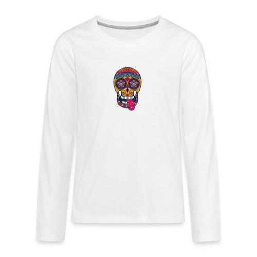 Mexican Skull - Maglietta Premium a manica lunga per teenager