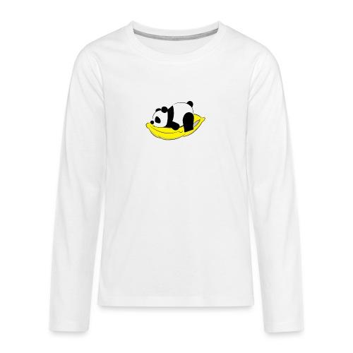 Panda Sleeping / Panda durmiendo - Camiseta de manga larga premium adolescente