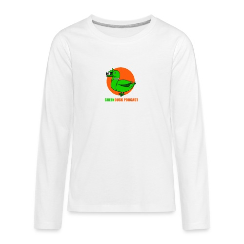 Greenduck Podcast Logo - Teenager premium T-shirt med lange ærmer