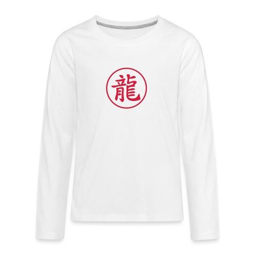 Dragon kanji - T-shirt manches longues Premium Ado