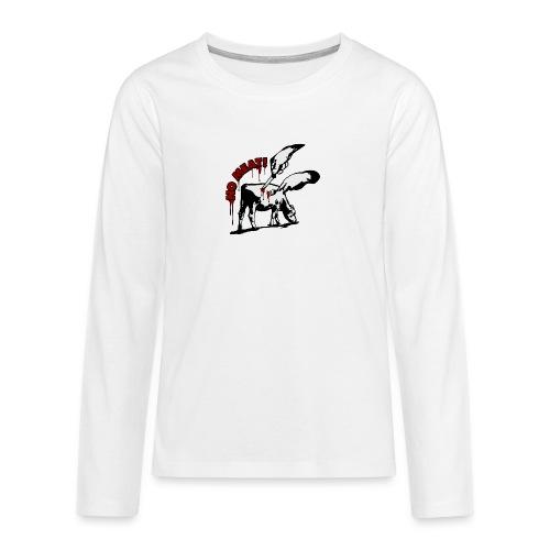 NO MEAT! - Teenager Premium Langarmshirt