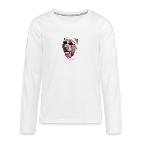 Perrote - Camiseta de manga larga premium adolescente